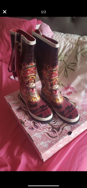 Ed Hardy Rain boots for Sale in Fresno, CA