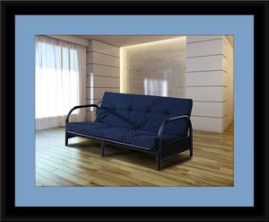 Black futon frame with mattress for Sale in Gambrills, MD