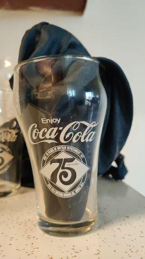 Coca Cola 75th Anniversary Glasses for Sale in Richland, WA