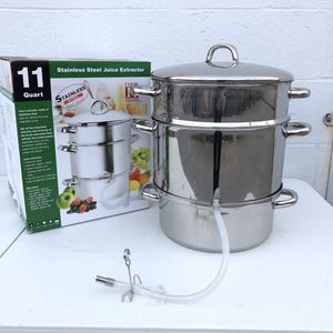 Cook N Home Stainless Steel Juice Extractor Steamer Vegetables and Fruits Kitchen Cookware Home Appliances $20 for Sale in South El Monte, CA