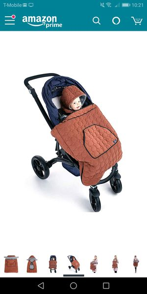 Universal baby stroller warmer footmuff-black- new for Sale in Naperville, IL