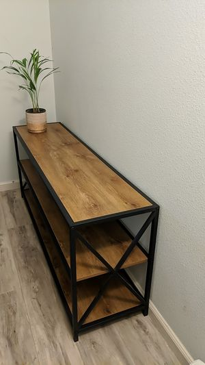 Bookcase TV Stand Table for Sale in Visalia, CA
