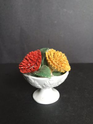 Vintage Fine Bone China Flower Pot October Made in England Crown Staffordshire for Sale in San Antonio, TX