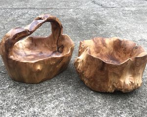 Handcrafted Mahogany Decorative Bowl/Plant Holder for Sale in Nashville, TN