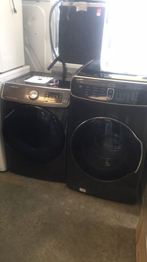 Scratch and dent return Samsung FlexWash and GAS dryer. Warranty, delivery. Se habla español for Sale in Alexandria, VA