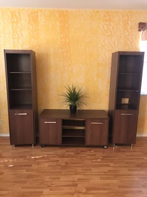 Bookshelves with cabinets and TV stand for Sale in Corona, CA
