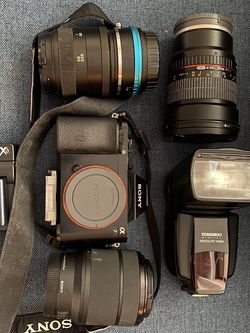 Sony Alpha 7 with 3 Lens And accessories for Sale in Berwyn,  PA
