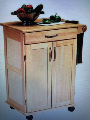 Kitchen Cart: 1 drawer, cabinet, towel bar for Sale in Arlington, VA