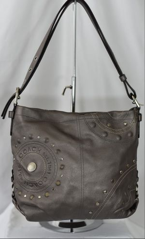 Auth Coach Silver Studded Applique Studded Hobo! for Sale in Lacey, WA