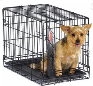 "SINGLE DOOR ICRATE METAL DOG CRATE, 22-INCH, BLACK 22L x 13 Wx16 H"" for Sale in Las Vegas, NV"