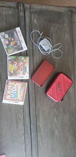 Nintendo 3DS XL console w/ 3 games for Sale in Seaford, DE