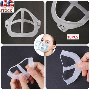 Brand New 10pcs 3D Face Masks Bracket Mouth Separate Inner Stand Holder Breathing Space, for Sale in Monterey Park, CA
