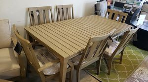 Brand New Patio Furniture Ashley 7pc Dining Set Table and 2 arm chairs and 4 armless chairs for Sale in Hayward, CA