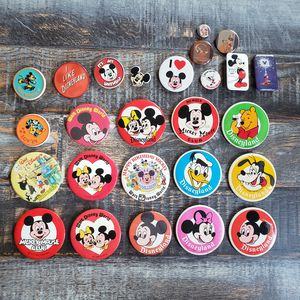 1970's Disneyland MICKEY MOUSE Souvenir Pin Button Walt Disney Productions 70's (Lot of 26) Rare Varieties for Sale in Las Vegas, NV
