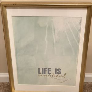 "Wall Art Framed ""Life Is Beautiful"" for Sale in Atlanta, GA"