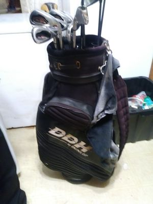 Set of Big Bertha golf clubs for through pitching wedge, TaylorMade driver, to Adams 3-wood and 5-wood carbide putter Anna Dunlap club bag..price nego for Sale in Greensboro, NC