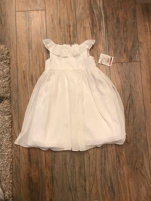 David's Bridal 2T toddler white dress, wedding, flower girl for Sale in Murrysville, PA