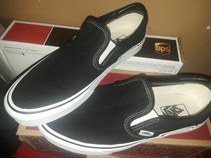Black N' White Vans Slip Ons for Sale in Anaheim, CA