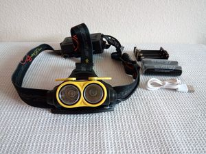 Yellow Rechargeable T6 2 X LED Headlight for Sale in San Diego, CA