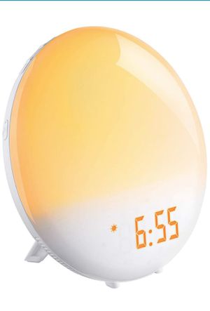 Alarm Clock, FM Clock Radio, 20 Brightness, Two Programmable Alarms, 6 Alarm Sound, Touch Control, Night Light for Sale in Piscataway, NJ