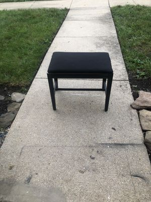 Black vanity stool / short small chair for Sale in Alexandria, VA