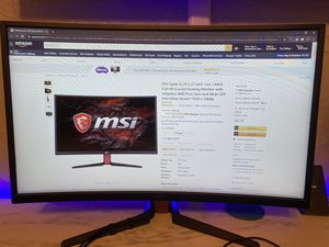 MSI 27 inch curved 144hz gaming monitor G27C2 for Sale in Boca Raton, FL