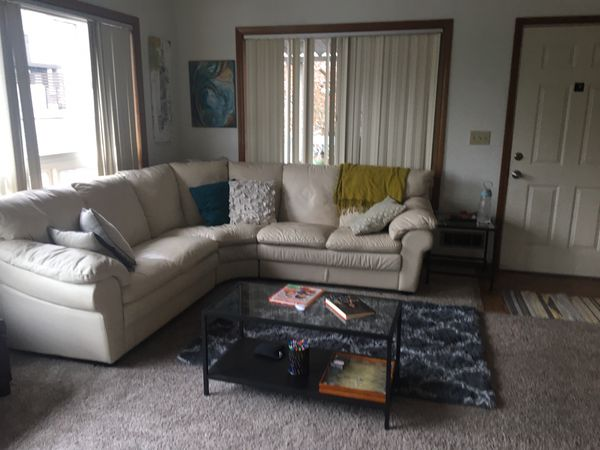 3 PIECE %100 ITALIAN LEATHER COUCH