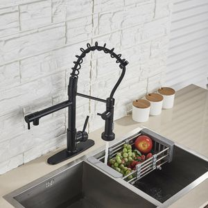 Kitchen Sink Faucet Pull Down Sprayer Swivel With Deck Plate Matte Black for Sale in New York, NY
