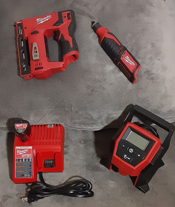 New Milwaukee M12 tools with battery and charger