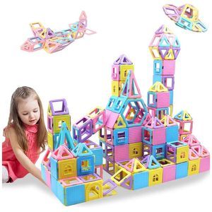 Magnetic Blocks 133PCS Upgrade Magnetic Building Blocks Magnetic Tiles Educational Toys Tiles Set for Kids Magnet Stacking Toys for Kids Children Age for Sale in Crownsville, MD
