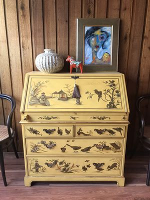 Stunning Vintage Chinoiserie Secretary Desk By The Baker Company for Sale in Castro Valley, CA