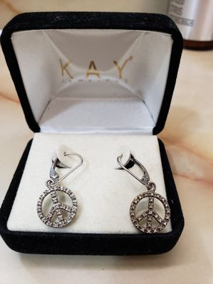 White gold diamond earrings for Sale in Portland, OR