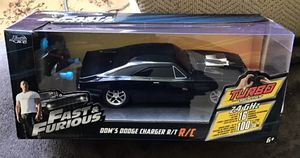 Jada Toys Fast and Furious 1:24 Radio Control Car, Dom's Charger R/T: 2.4 GHz Turbo Boost iconic 1970 Dodge Charger R/T, used for sale  this aggressively styled for Sale