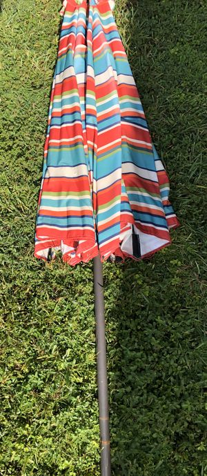 Outdoor multi colored umbrella for Sale in Davie, FL