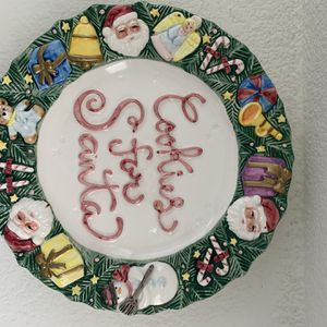 Cookies for Santa Plate for Sale in Corona, CA