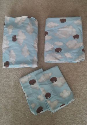 Oreo Cookie Queen Sheet Set for Sale in Germantown, MD