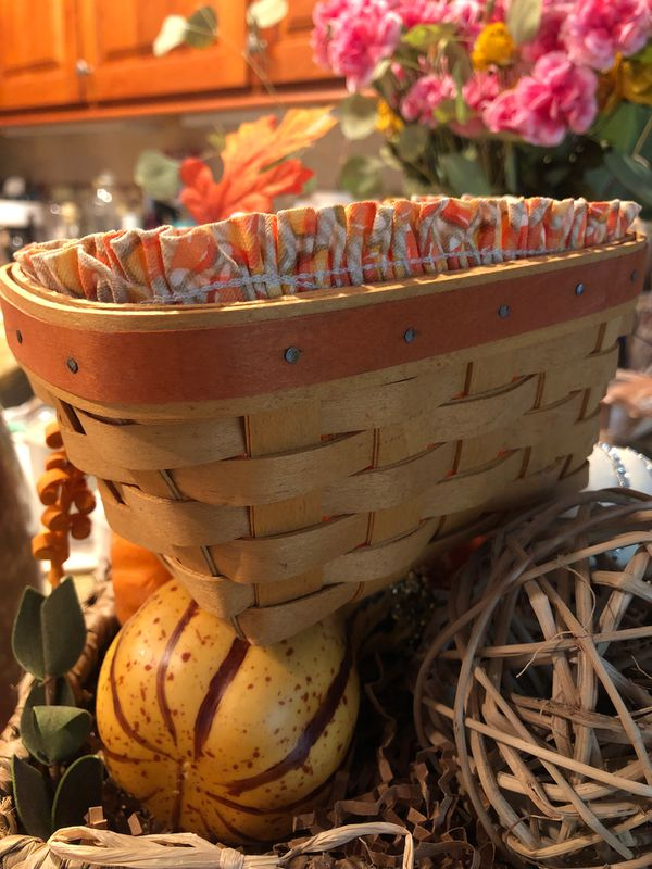 Longaberger candy corn basket handwoven