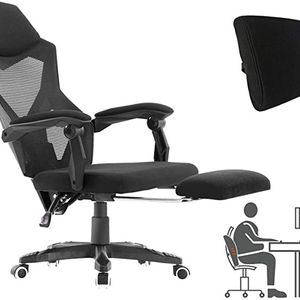 Ergonomic Office Chair, High Back Executive Desk Chair with Footrest Adjustable Comfortable Task Chair with Armrests and Lumbar Support Black for Sale in Ontario, CA
