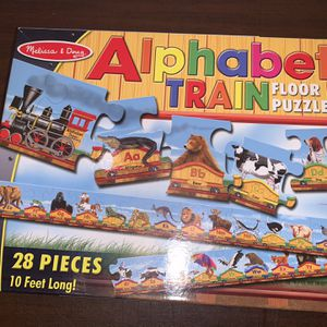 Melissa And Doug Alphabet Train Floor Puzzle 28 Pieces Kids Boys Girls Toy for Sale in San Diego, CA