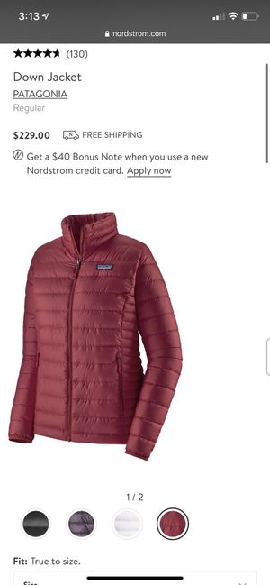 Patagonia down jacket for Sale in Fairfax Station, VA
