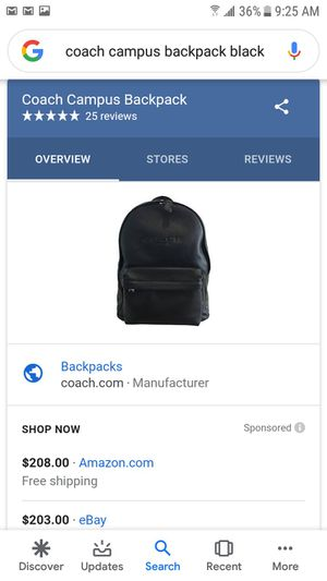 Coach men's backpack for Sale in South Gate, CA