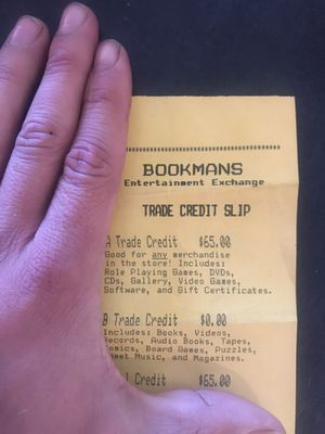 65.00 trade credit for Bookman's for Sale in Scottsdale, AZ
