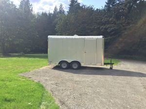 Continental Cargo Trailer 7x14 2017 silver for Sale in Brush Prairie, WA
