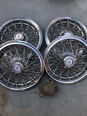 "14"" wire spoke wheels hubcaps for Sale in Washington, DC"