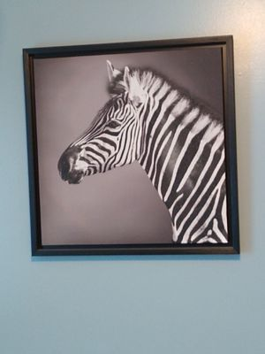 Lg zebra canvas painting, zebra pictures and cactus art for Sale in High Point, NC