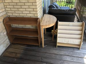 Kids bookshelves and half round table for Sale in Harwood Heights, IL