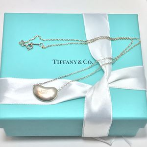 Tiffany&CO Elsa Peretti Bean pendant and chain necklace for Sale in St. Cloud, FL