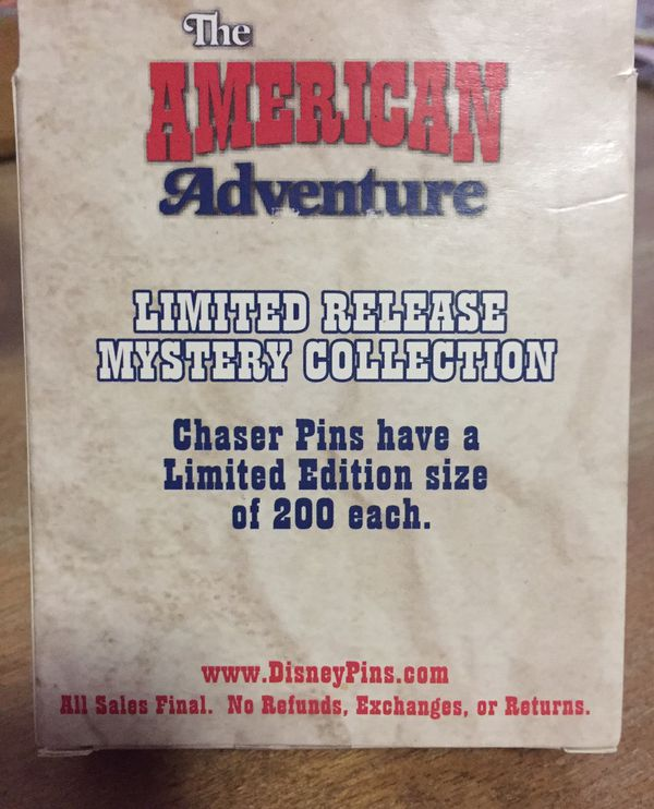 Disney American Adventure State Pin WY & CO
