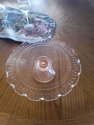 Large Pink Cake Plate for Sale in Fort Mohave, AZ