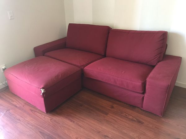 IKEA couch with ottoman